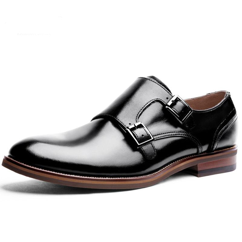 Men's Leather Monk-straps Shoes