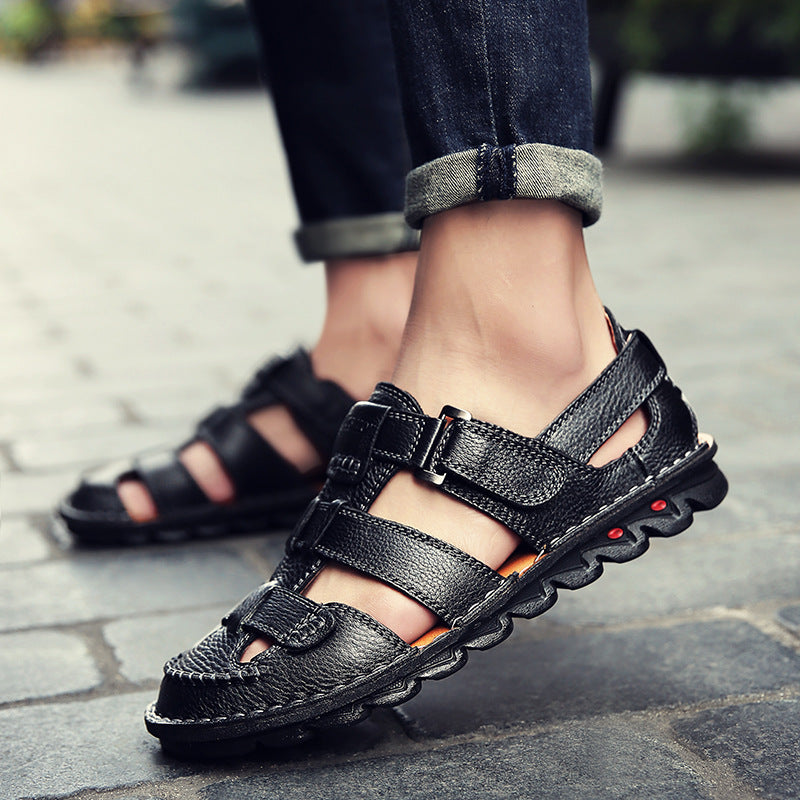 Men Leather Causal Sandals