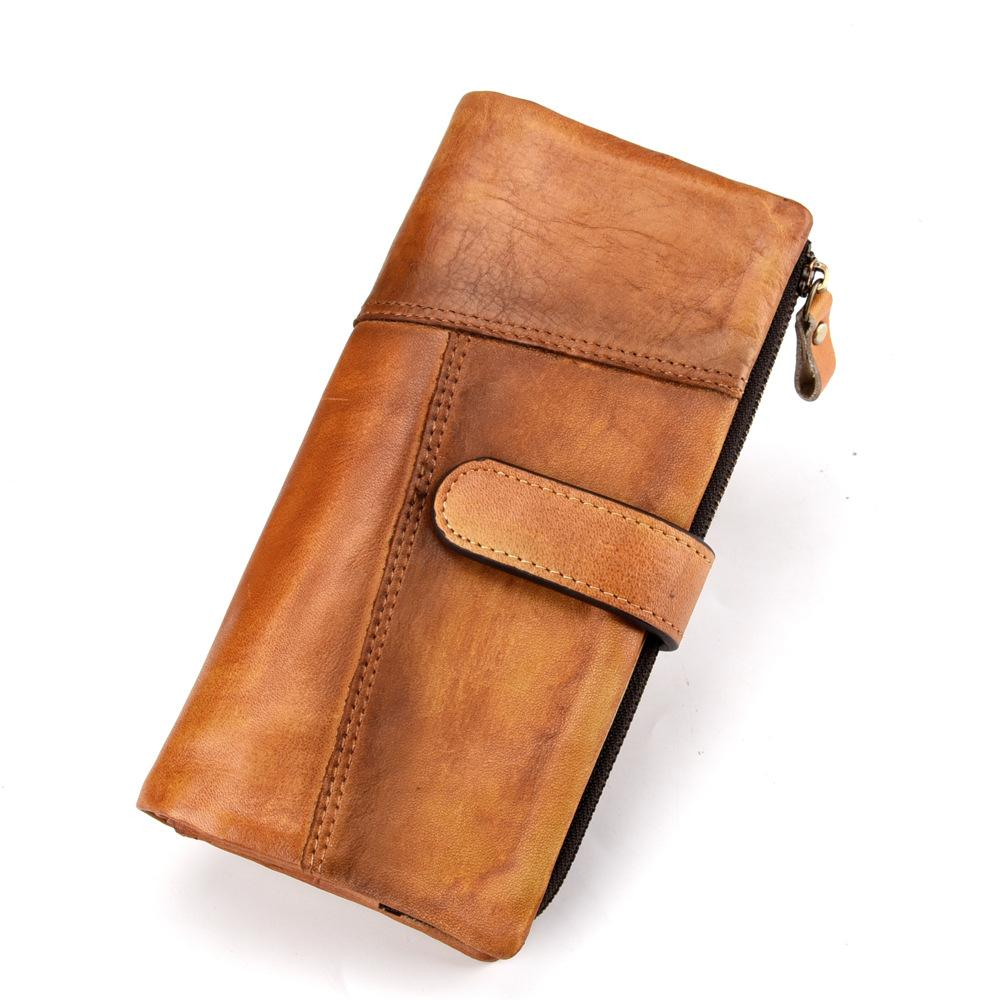 Men's Leather Long Wallet RFID Protection