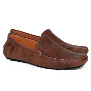 Men Handmade Leather Loafer Shoes Driving Moccasins