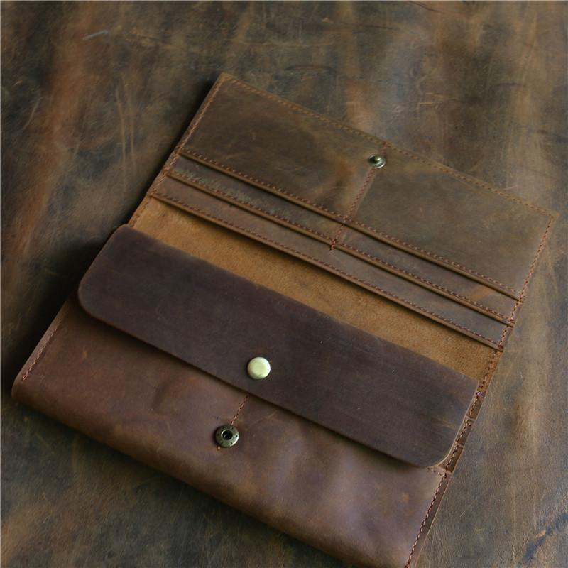 Men's Crazy Horse Leather Wallet