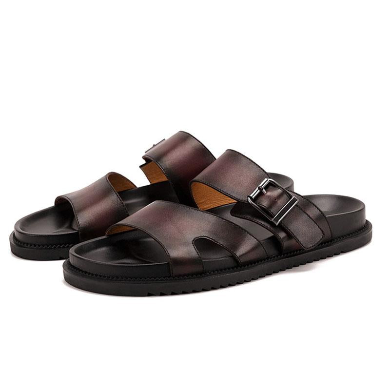 Men's Vintage Sandals Leather Beach Shoes