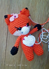 Baby Fox all pinned up and ready to sew