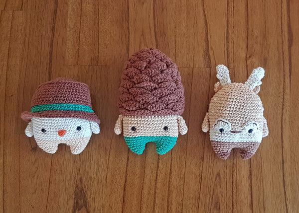 Winter Set (Pine Cone, Reindeer and Snowman)