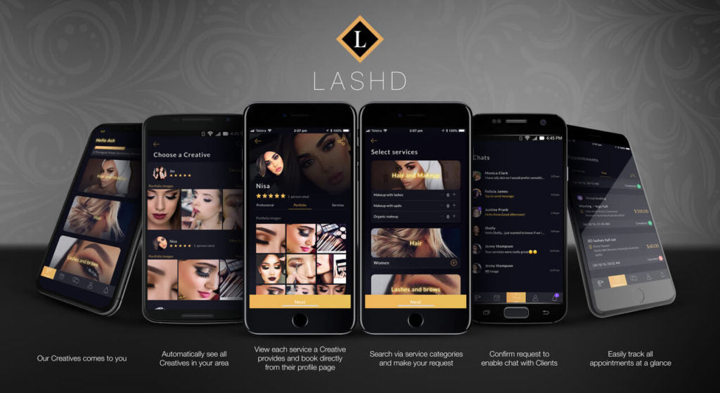 Beauty Services On-Demand - Lashd Mobile Creatives Come to You