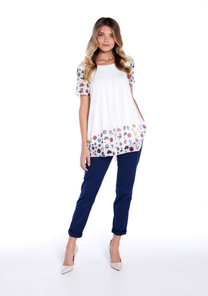 Printed blouse with flowers - guimanos-store