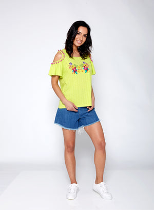 Open Shoulder T-Shirt - guimanos-store
