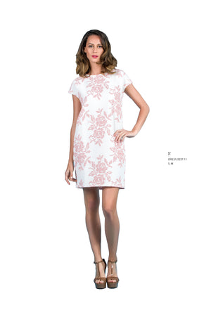 Floral Embroidered Dress - guimanos-store