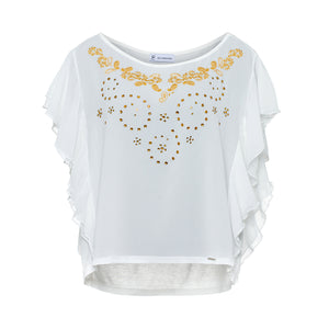 T-shirt with bright stones