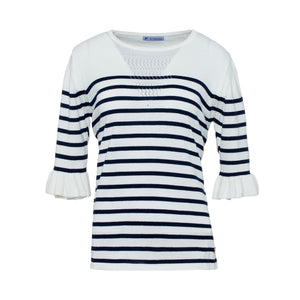 Striped half sleeve shirt - guimanos-store