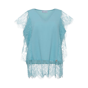 Blouse with Lace on the Side and Base - guimanos-store