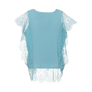 Blouse with Lace on the Side and Base