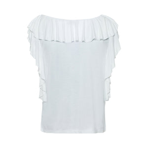 T Shirt with Ruffles and Bow