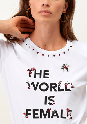 T-Shirt The World Is Female - guimanos-store