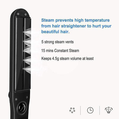 (Factory Outlet) PROFESSIONAL SMOOTH STEAM HAIR STRAIGHTENER - Goodssay