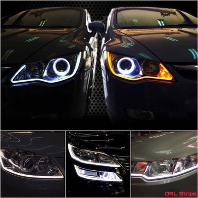 Flexible DRL LED Night & Daytime Running Light Strip (A PAIR) - Goodssay
