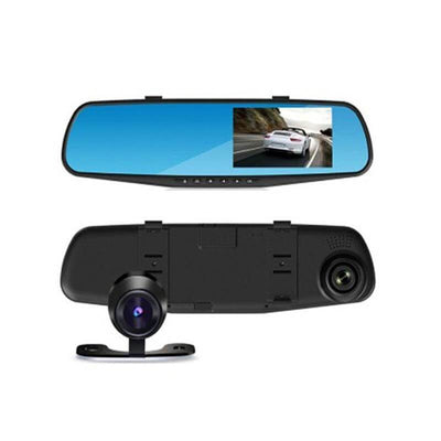 Full HD 1080P Car Dvr Camera Auto 4.3 Inch Rearview Mirror Digital Video Recorder Dual Lens Registratory Camcorder - Goodssay