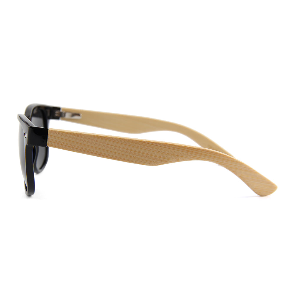 Coniston Smoked Polarized Lens Wayfarer Bamboo Sunglasses Philippines