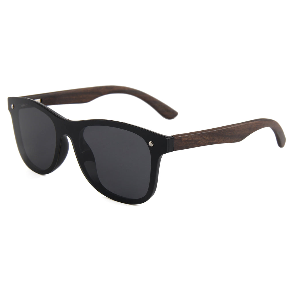 Berkton Wooden Sunglass Smoked Polarized Lens