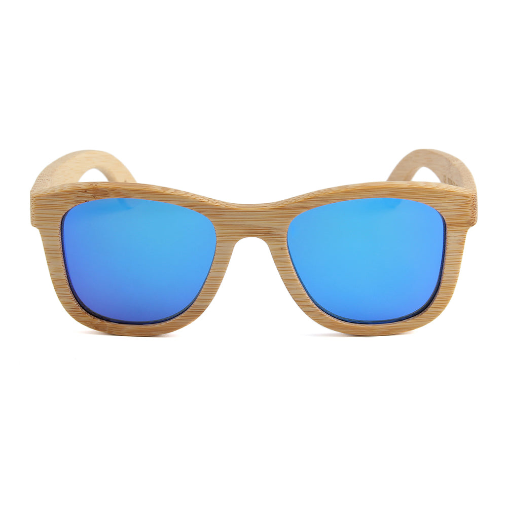 Blaker Full Bamboo Sunglasses Blue Mirror Polarized Lens Philippines