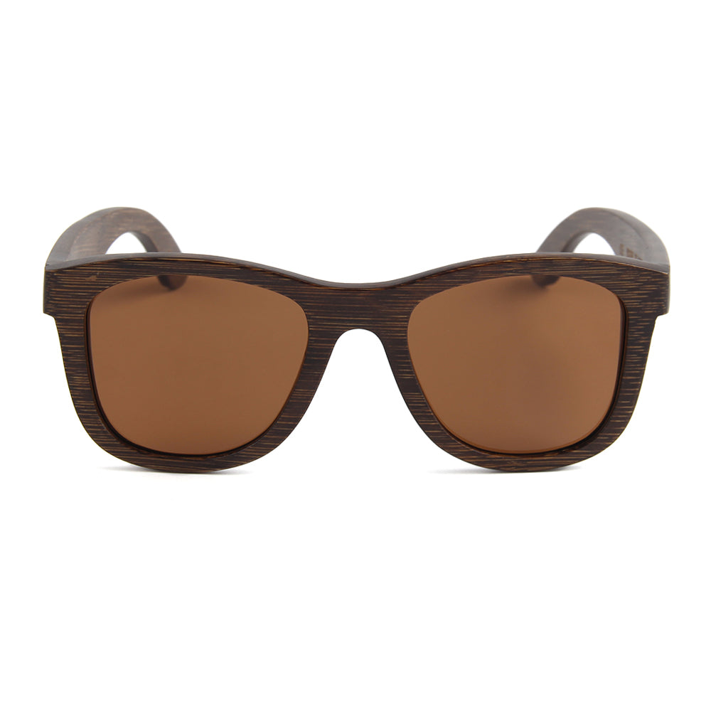 Blaker Full Bamboo Sunglasses Brown Polarized Lens UV400