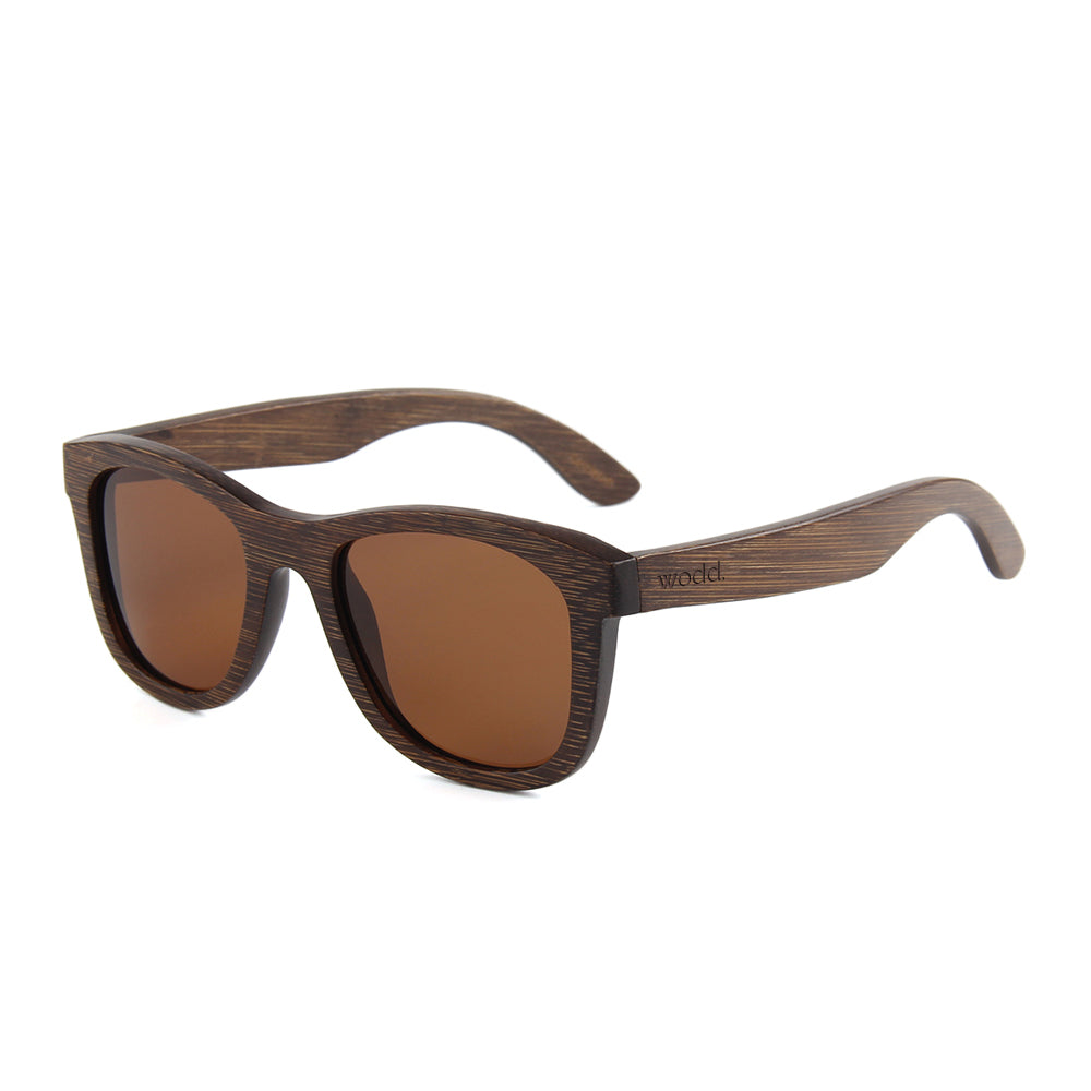 Blaker Full Bamboo Sunglasses Brown Polarized Lens