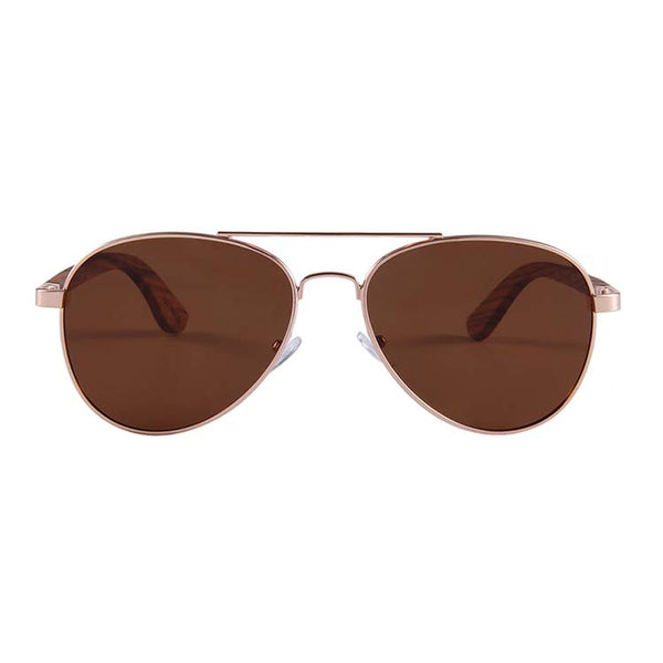 Helston Aviator Wooden Sunglasses Brown Polarized Lens Philippines