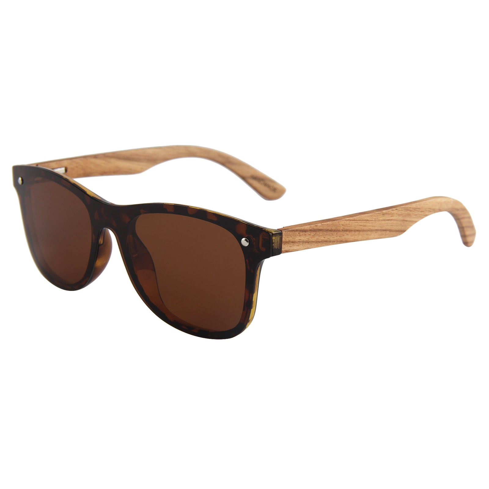 Berkton Wooden Sunglass Brown Polarized Lens