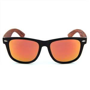 Wayfarer Wooden Sunglasses Red Mirror Polarized Lens Philippines