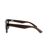 Wayfarer Wooden Sunglasses Blue Mirror Polarized Lens Spring Hinges