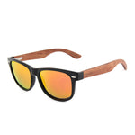Brimfield Wayfarer Wooden Sunglasses Red Mirror Polarized Lens