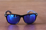 brimfield blue mirror polarized lens wooden sunglasses philippines