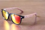 brimfield red mirror polarized lens wooden sunglasses online