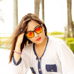coniston red mirror polarized lens bamboo sunglasses lifestyle photo for women