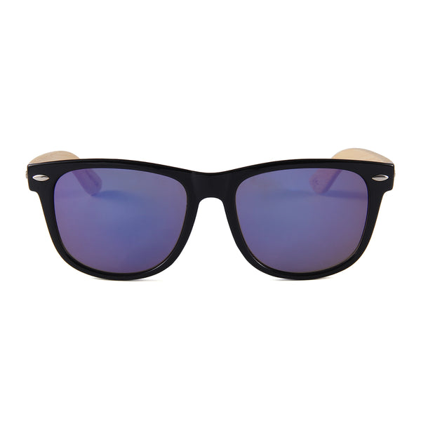 Wayfarer Bamboo Sunglasses Blue Mirror Lens UV400 Philippines