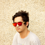 oriza red mirror lens bamboo sunglasses lifestyle mens photo