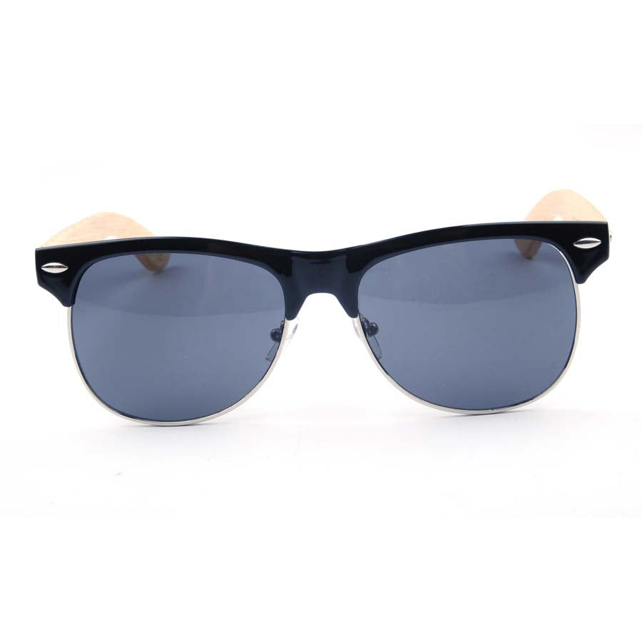 Stanlow clubmaster style bamboo sunglasses polarized