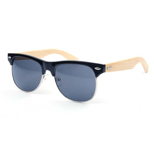 Stanlow clubmaster style bamboo sunglasses polarized for sale
