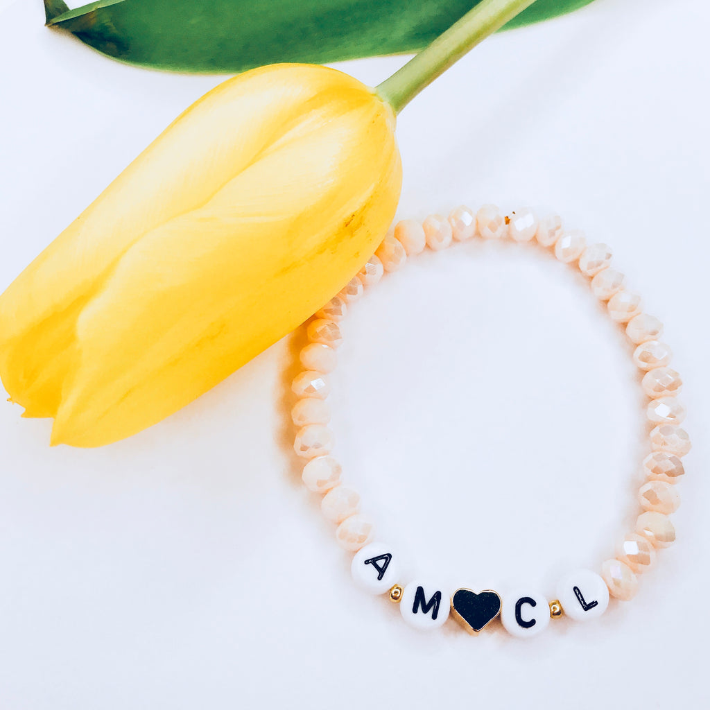 Francesca - heart and initials bracelet!