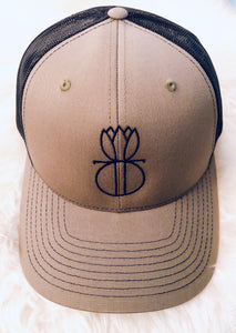 H4 Olive Green Mesh Hat with Black The Dashing Design Logo