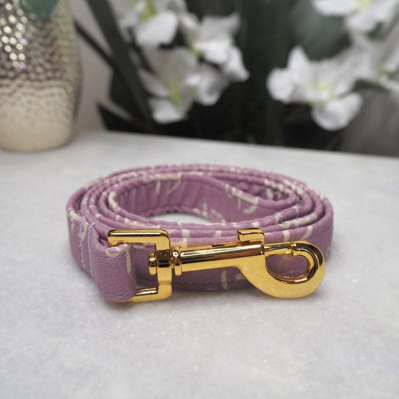 'Lilac Anchors' Dog Lead