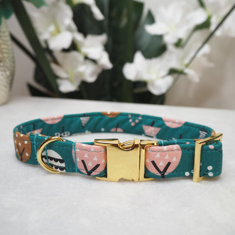 'Geo Trees' Dog Collar