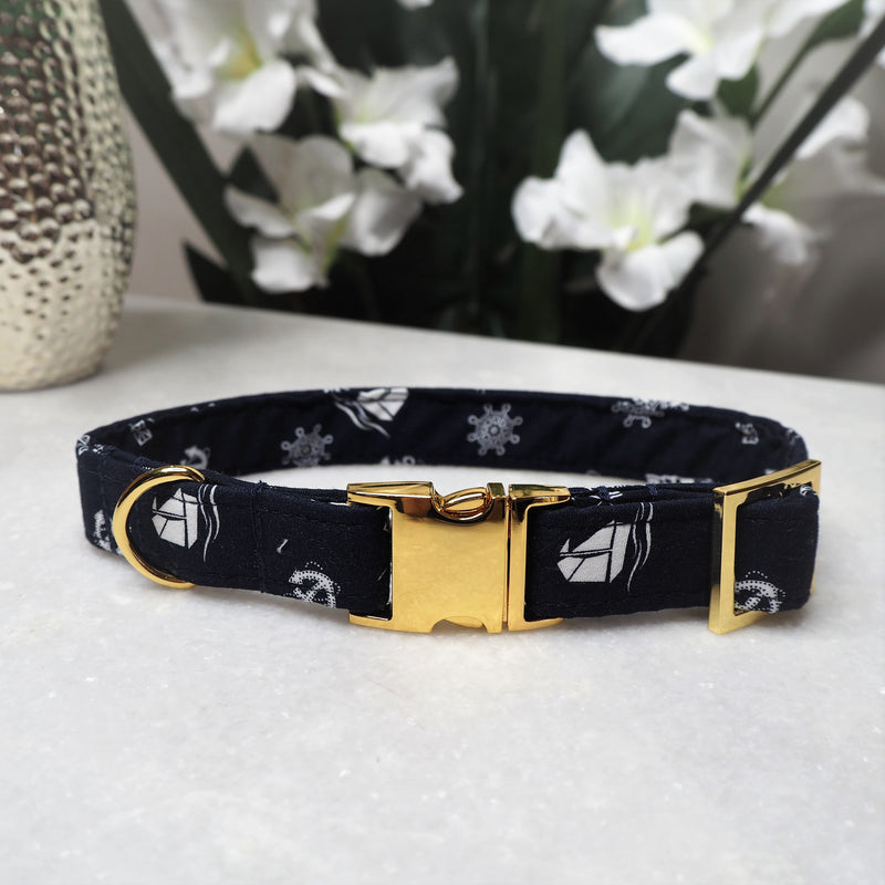 'Nautical' Dog Collar