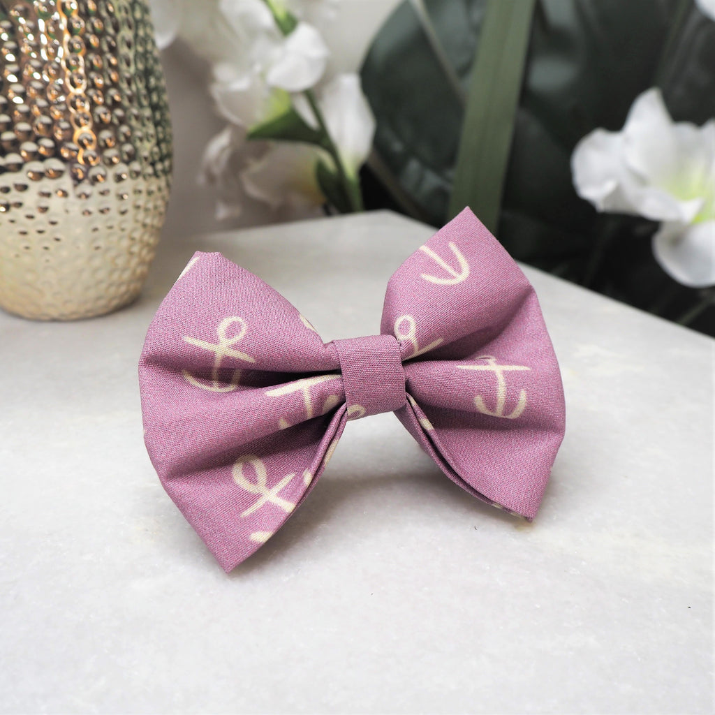 'Lilac Anchors' Bow Tie