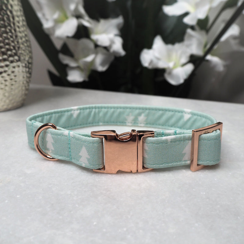 'Mint Pines' Dog Collar