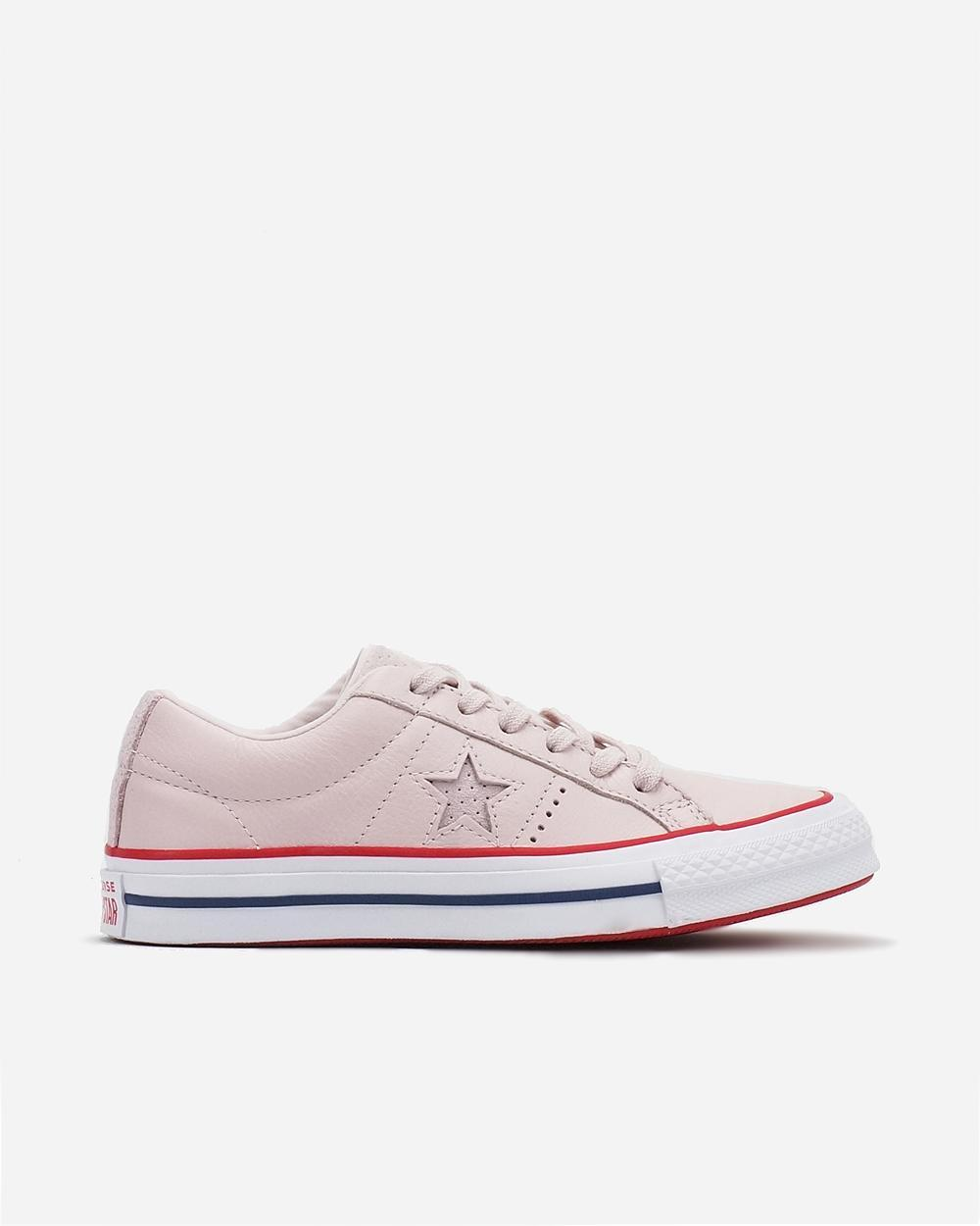 Converse One Star New Heritage Barely Rose Gym Red White Womens Sneaker  160623 272a534c7