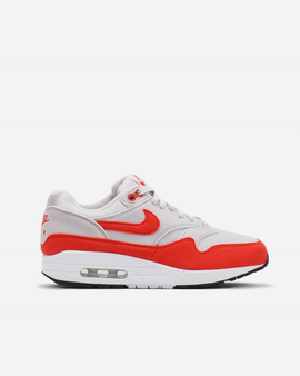 127e47efd2 Nike Air Max 1 Vast Grey/Habanero Red Womens Sneaker 319986-035