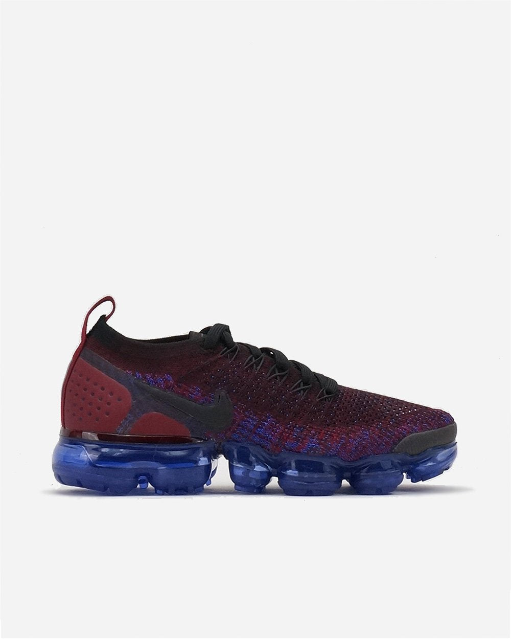 Nike Air Vapormax Flyknit 2 Black Team Red Racer Blue Womens Sneaker 942843- e650a1e17