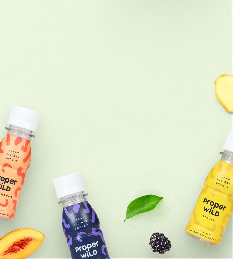Proper Wild's clean all day energy shots are made with real ingredients