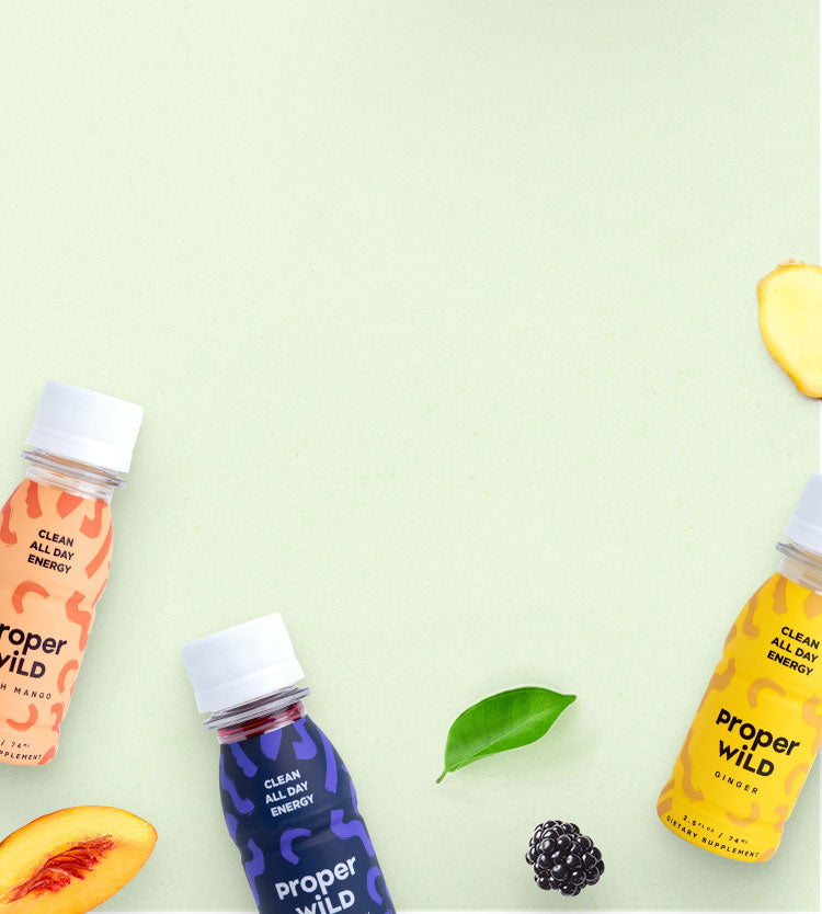 Proper Wild's clean all day energy shots are made with clean ingredients